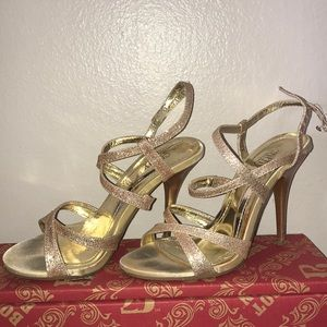 Sexy Strappy GOLD High Heels